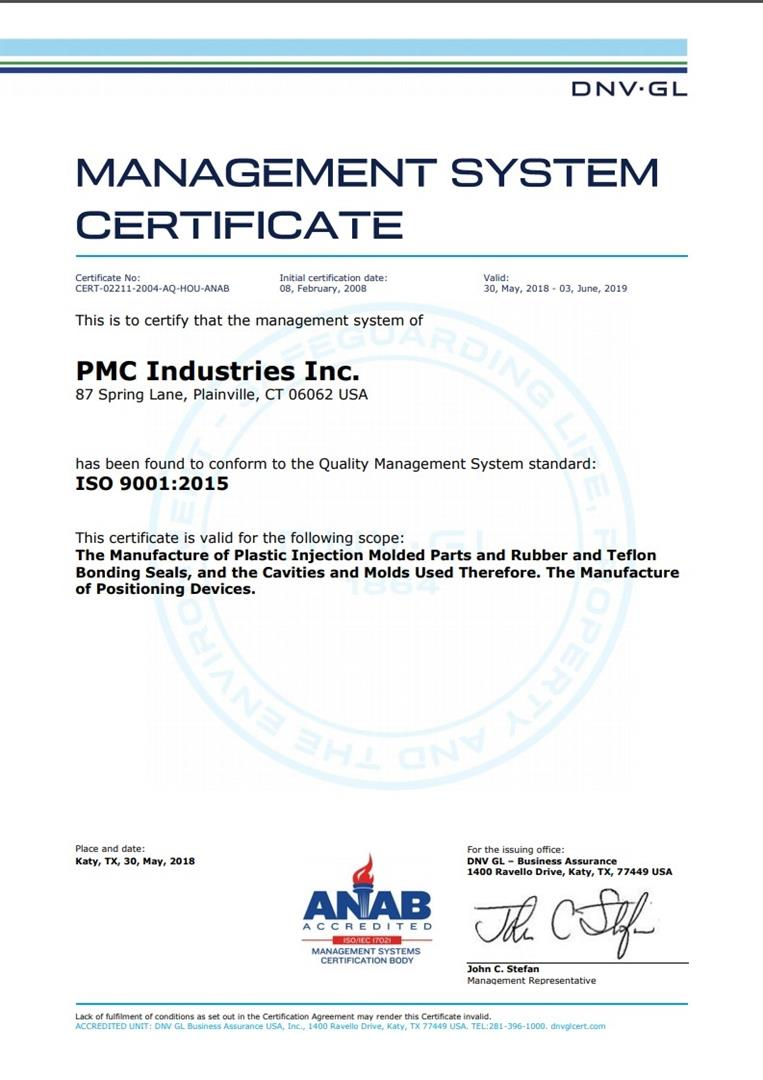 Our Quality Statement Pmc Industries Inc Manufacturer Of