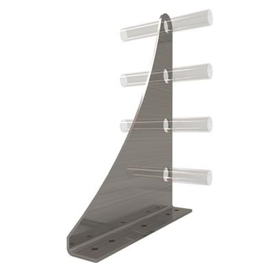 AceClamp, Snow Bracket: 4 Rail Extended (Heavy Duty)