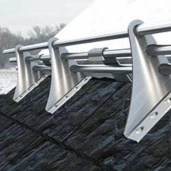 AceClamp 3 Rail Snow Guards Shown on Slate Roof